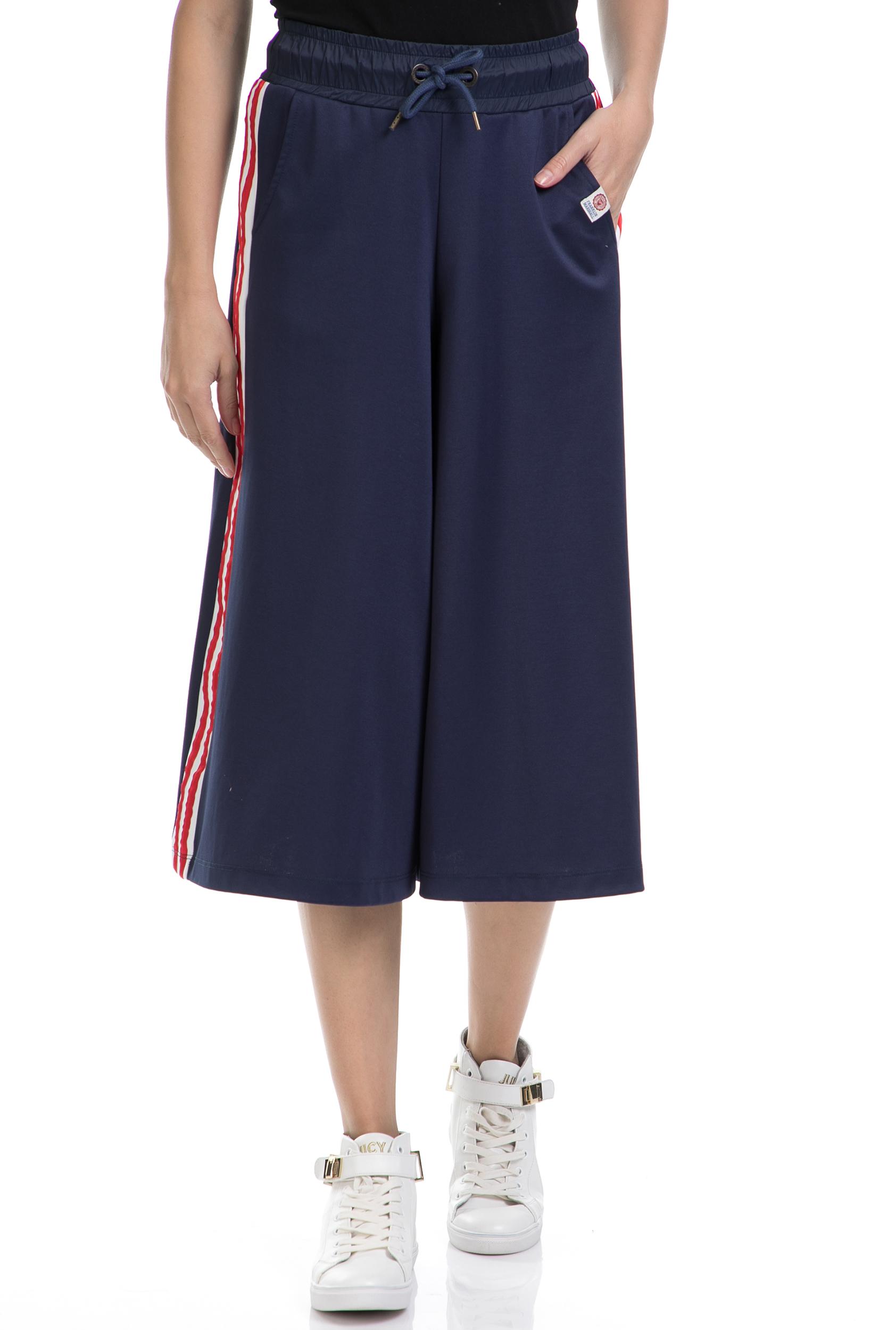 FRANKLIN & MARSHALL - Ζιπ κιλότ FRANKLIN & MARSHALL μπλε γυναικεία ρούχα παντελόνια cropped