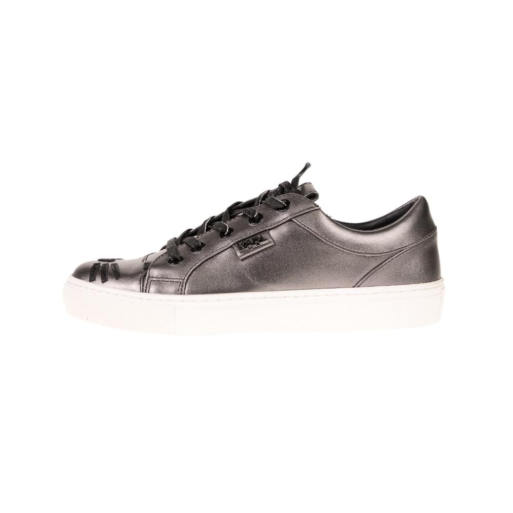 KARL LAGERFELD – Γυναικεία sneakers KARL LAGERFELD KUPSOLE Choupette Toe Lace ανθρακί