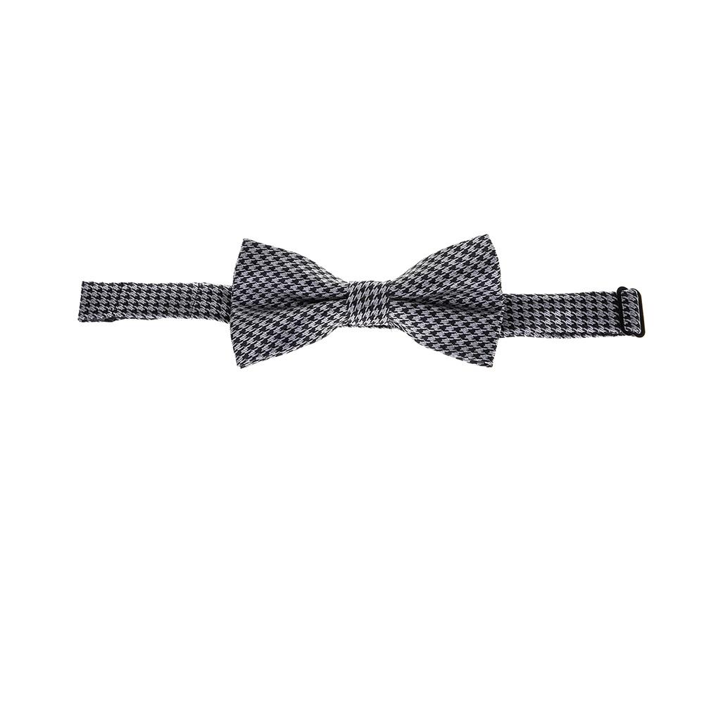 SSEINSE - Αντρικό παπιγιόν PAPILLON γκρι-μαύρο ανδρικά αξεσουάρ γραβάτες
