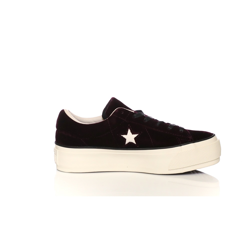 CONVERSE – Γυναικεία sneakers CONVERSE One Star Platform Ox μπορντό