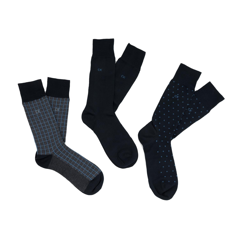 CK UNDERWEAR - Ανδρικό σετ κάλτσες Calvin Klein PATTERNED GIFT BOX μπλε ανδρικά αξεσουάρ κάλτσες