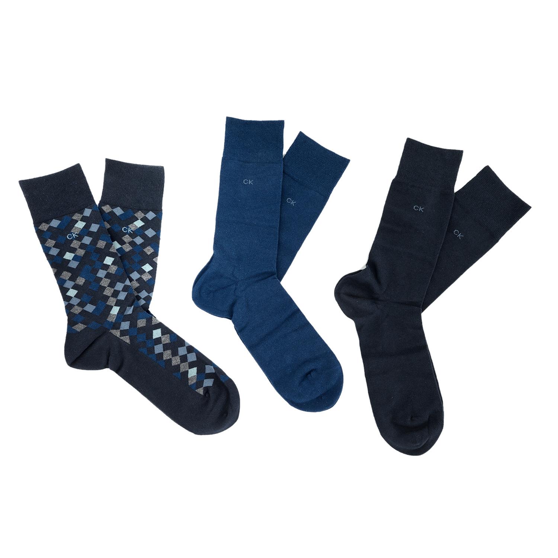CK UNDERWEAR - Ανδρικό σετ κάλτσες Calvin Klein DIAMOND GIFT BOX μπλε ανδρικά αξεσουάρ κάλτσες