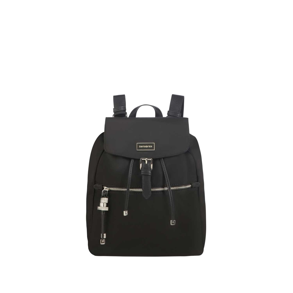 SAMSONITE - Γυναικεία τσάντα πλάτης SAMSONITE KARISSA μαύρη γυναικεία αξεσουάρ τσάντες σακίδια ταξιδίου