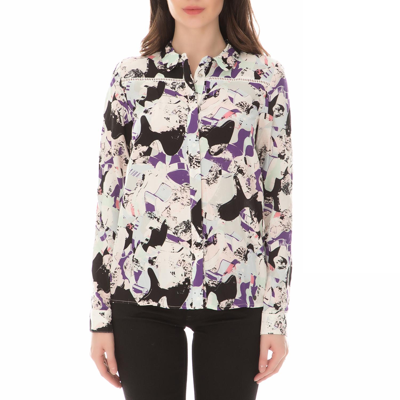 NUMPH - Γυναικείο μακρυμάνικο πουκάμισο NUMPH εμπριμέ