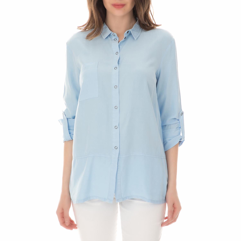 NUMPH - Γυναικείο μακρυμάνικο πουκάμισο NUMPH γαλάζιο