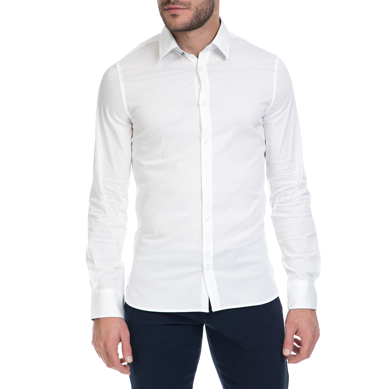 GUESS - Ανδρικό πουκάμισο VENICE GUESS λευκό ανδρικά ρούχα πουκάμισα μακρυμάνικα