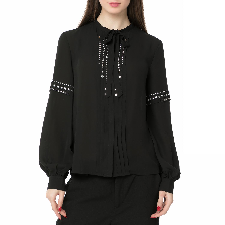 8617759002c6 GUESS - Γυναικείο μακρυμάνικο πουκάμισο με τρουξ Guess LILIA μαύρο ...