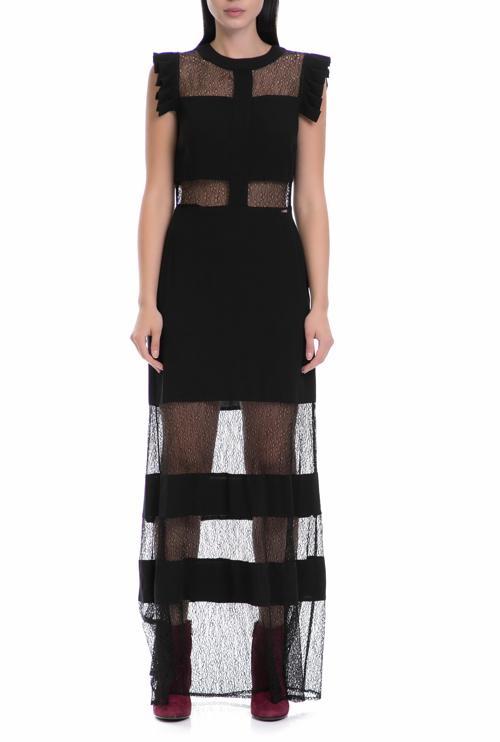 GUESS - Γυναικείο φόρεμα LIZZY GUESS μαύρο 2edff76c9ae
