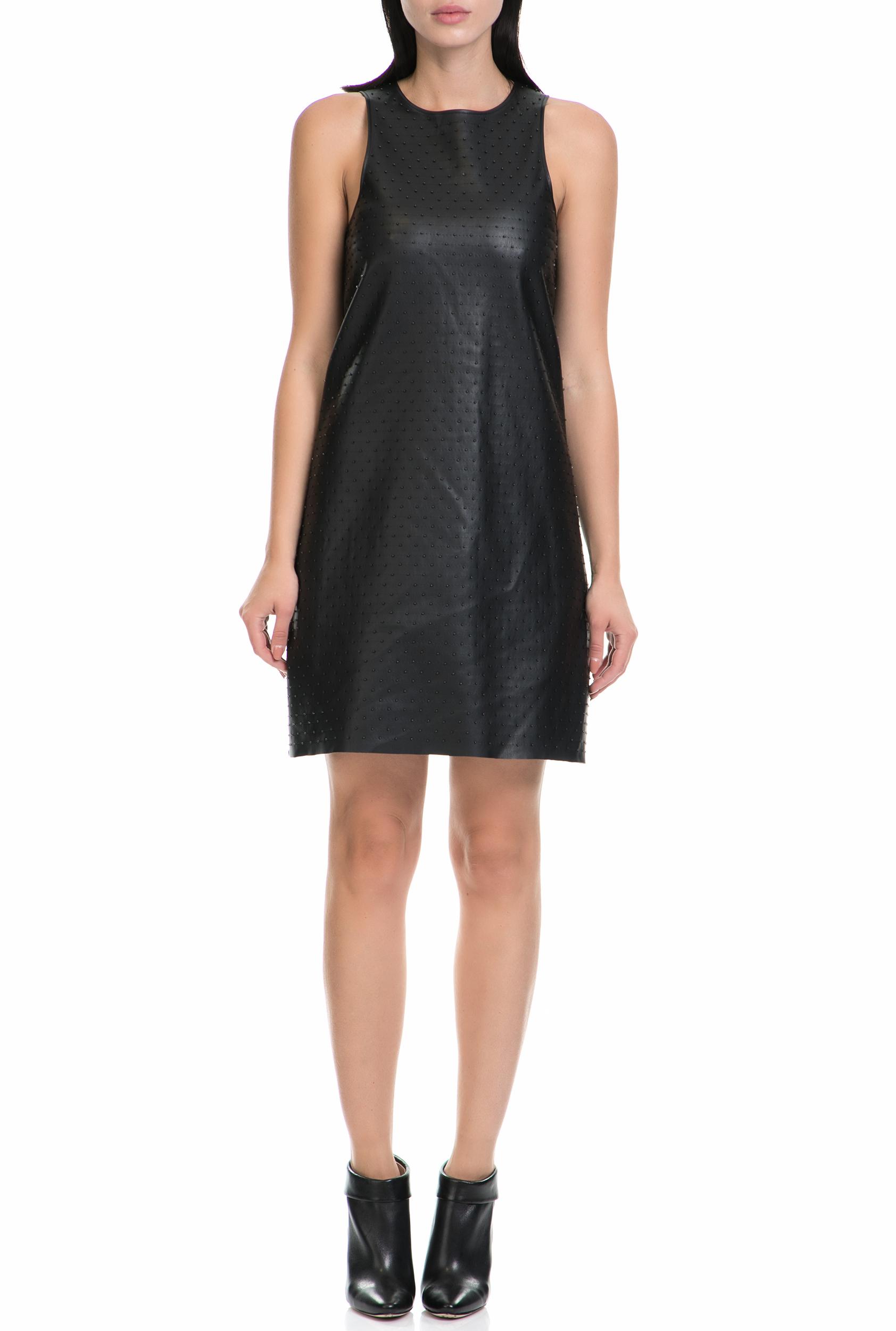 GUESS - Γυναικείο μίνι αμάνικο φόρεμα Guess μαύρο 44196d3d513