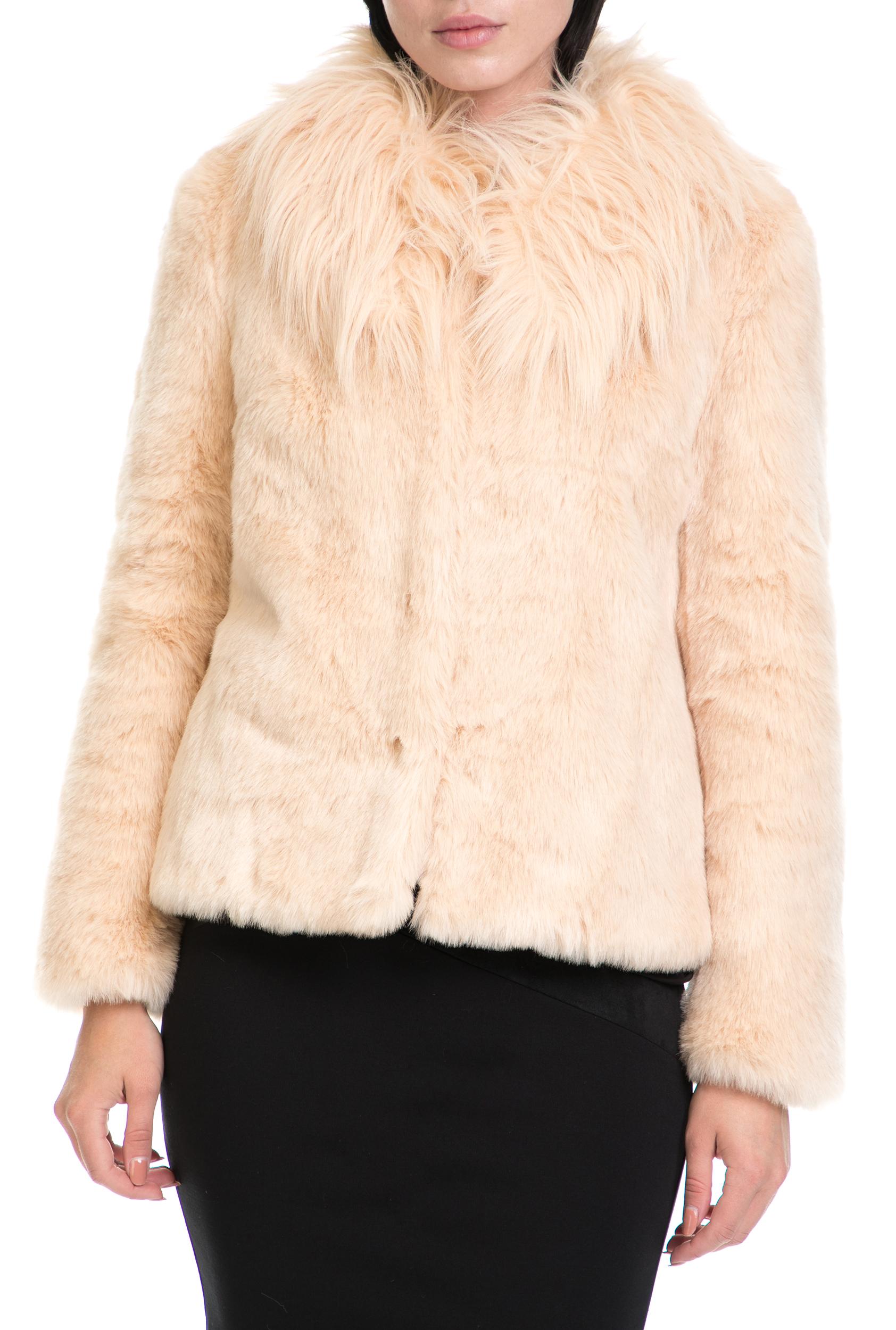 GUESS - Γυναικείο παλτό AGATA GUESS ροζ γυναικεία ρούχα πανωφόρια παλτό