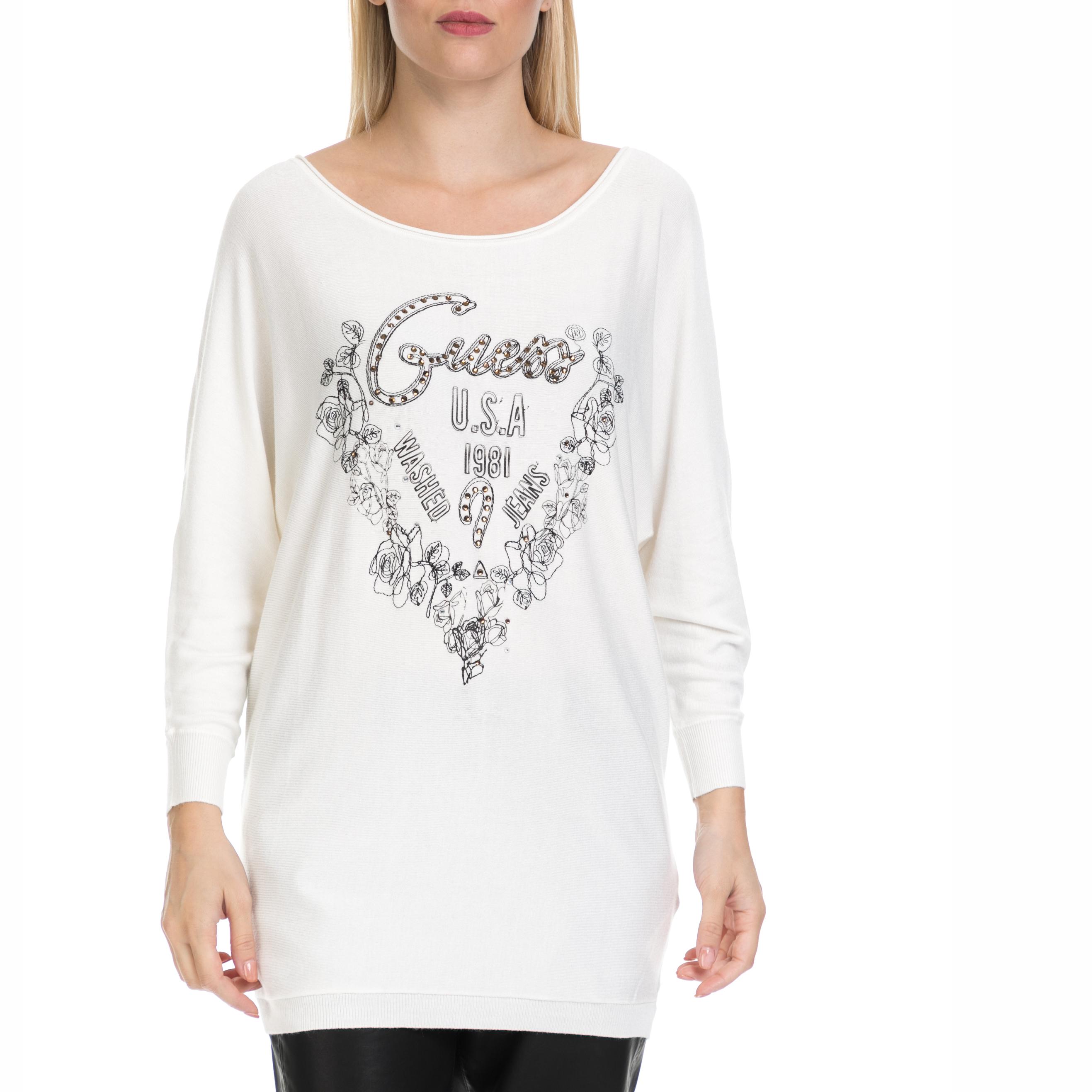 a57f82c97007 GUESS - Γυναικεία μπλούζα LEA GUESS λευκή
