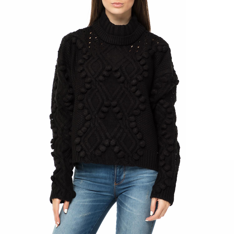2191e7cdc7ea GUESS – Γυναικείο πουλόβερ με ζιβάγκο GUESS VANDA SWEATER μαύρο