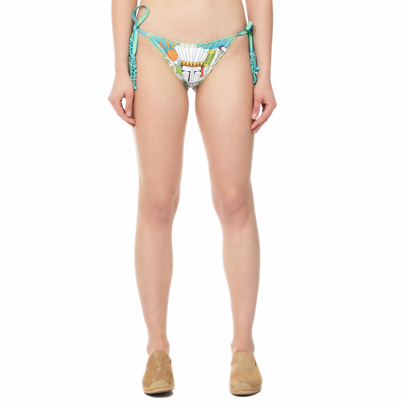 LUME - Γυναικείο σλιπ μπικίνι CAROLINA SACRED λευκό- πράσινο