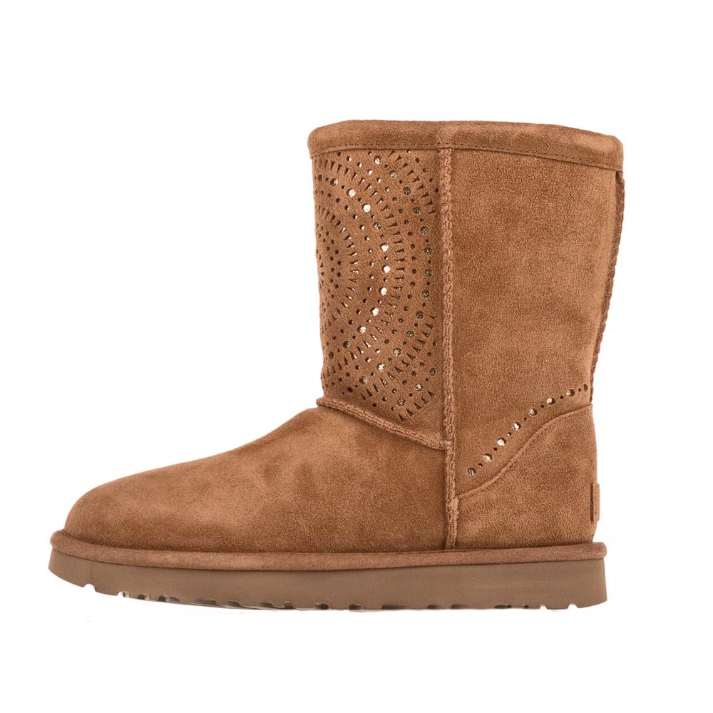 UGG - Γυναικείες μπότες UGG Classic Short Sunshine καφέ γυναικεία παπούτσια μπότες μποτάκια μπότες