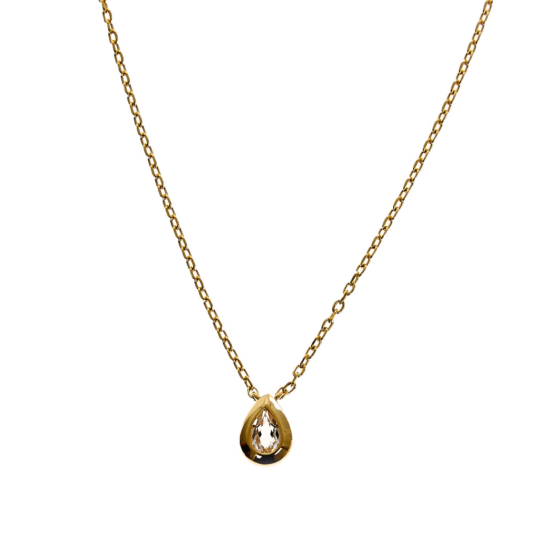 LINKS OF LONDON - Ασημένιο επίχρυσο μενταγιόν Links of London Rose Dew γυναικεία αξεσουάρ κοσμήματα κολιέ