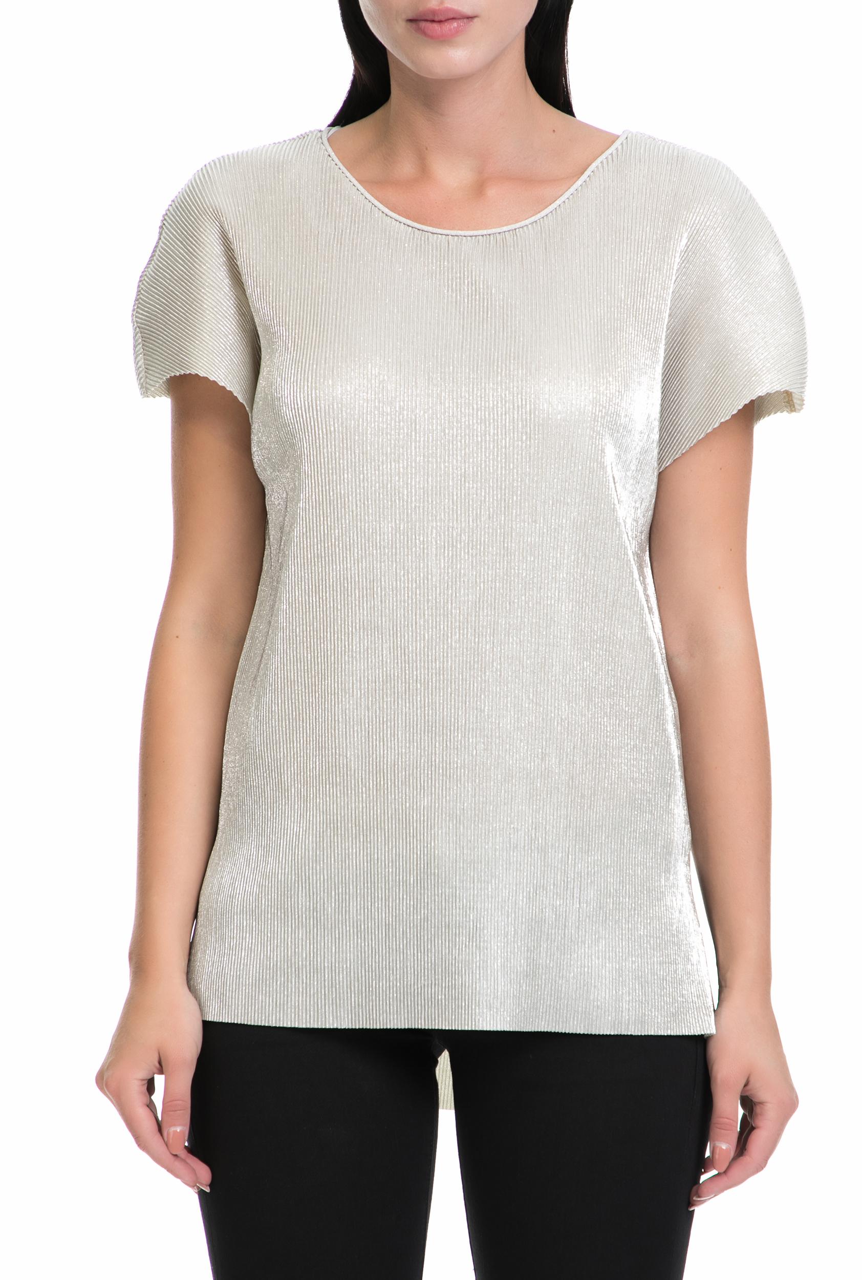 GAS - Γυναικεία μπλούζα LIBER GAS ασημί