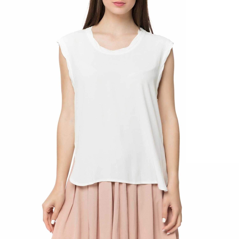 AMERICAN VINTAGE - Γυναικείο τοπ LIO127E17 AMERICAN VINTAGE λευκό γυναικεία ρούχα μπλούζες αμάνικες