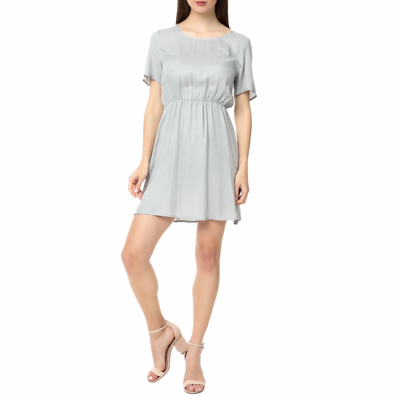 AMERICAN VINTAGE - Γυναικείο μίνι φόρεμα LIX120E17 AMERICAN VINTAGE γκρι γυναικεία ρούχα φορέματα μίνι
