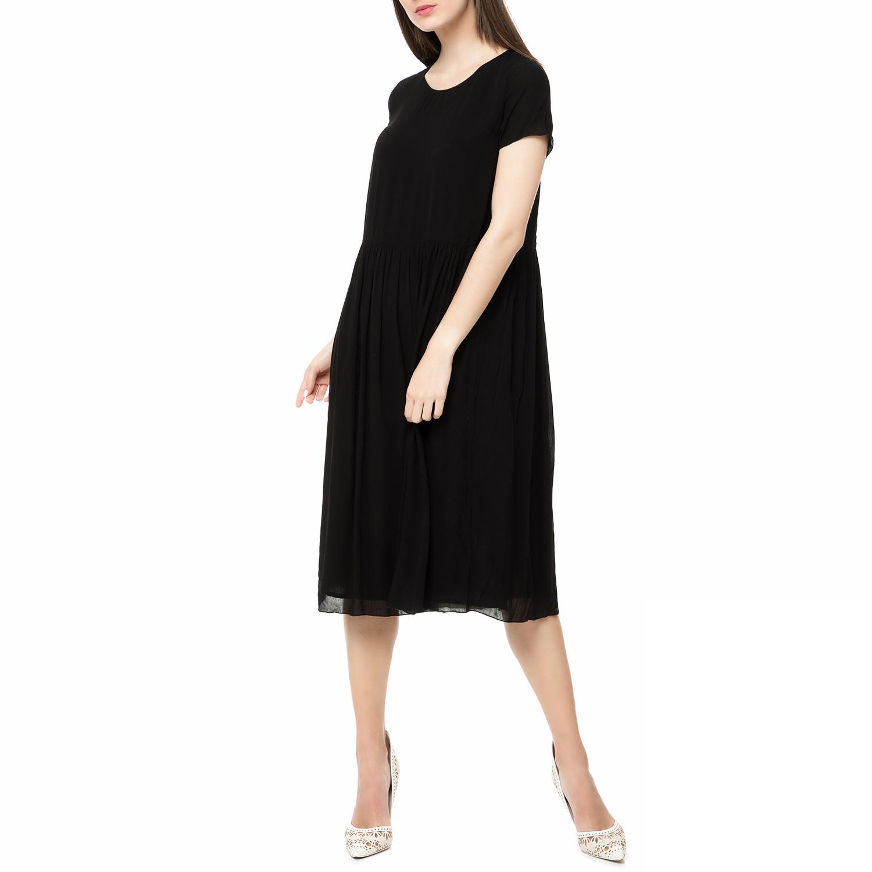 AMERICAN VINTAGE - Γυναικείο midi φόρεμα NEY111E17 AMERICAN VINTAGE μαύρο γυναικεία ρούχα φορέματα μέχρι το γόνατο