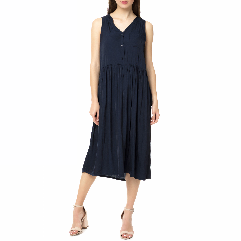 AMERICAN VINTAGE - Γυναικείο μίντι φόρεμα STAY191E17 AMERICAN VINTAGE γυναικεία ρούχα φορέματα μέχρι το γόνατο