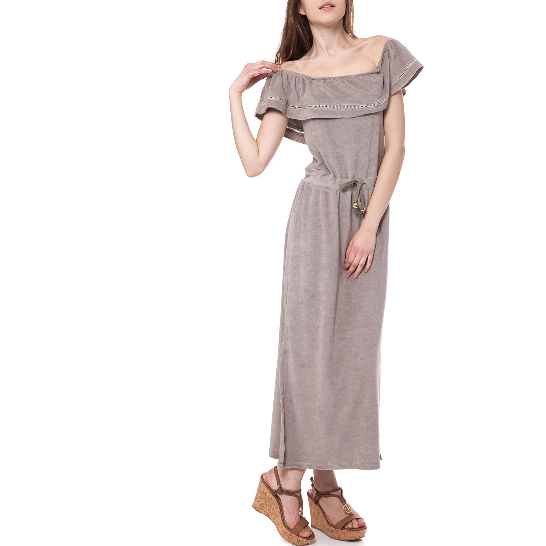 MYMOO - Γυναικείο φόρεμα MYMOO μπεζ