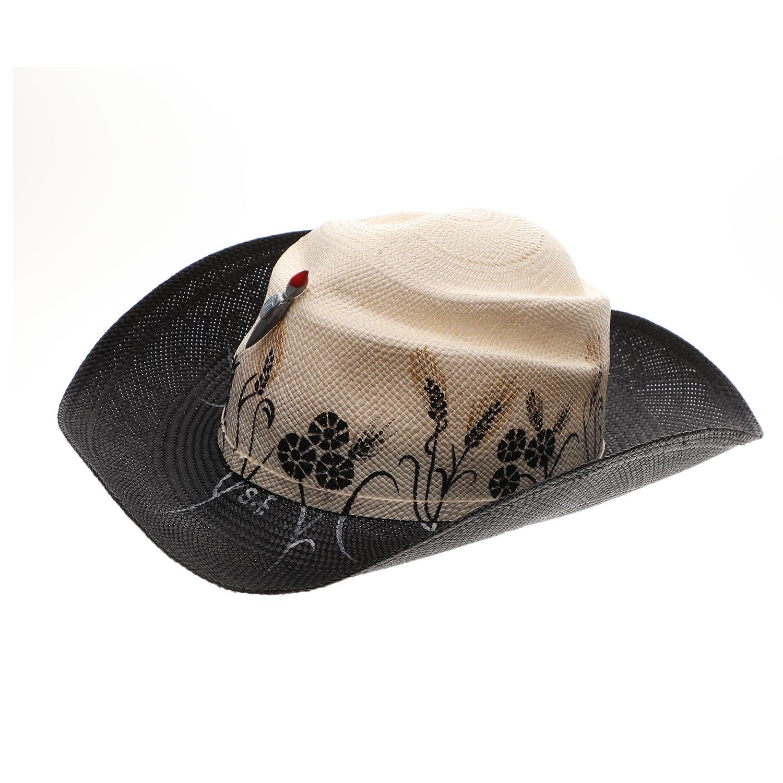 IBO-MARACA - Γυναικείο καπέλο IBO-MARACA GOLDEN WHEAT μαύρο-μπεζ