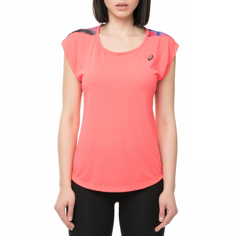 ASICS - Γυναικείο αθλητικό t-shirt NOVEL Asics ροζ γυναικεία ρούχα αθλητικά t shirt τοπ