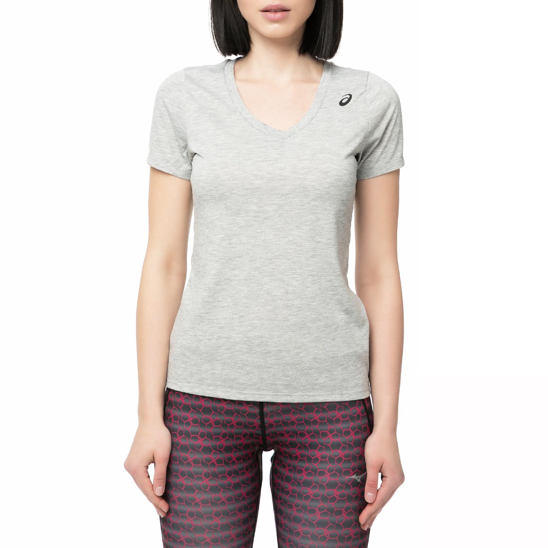 ASICS - Γυναικείο αθληιτκό t-shirt Asics γκρι γυναικεία ρούχα αθλητικά t shirt τοπ