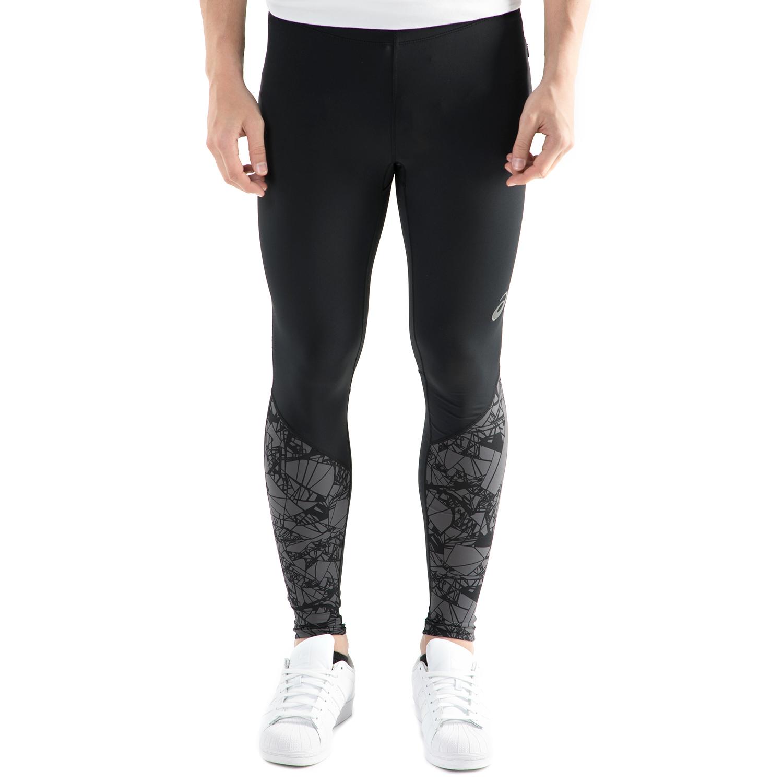 ASICS - Ανδρικό αθλητικό μακρύ κολάν Asics fuzeX GRAPHIC TIGHT μαύρο ανδρικά ρούχα αθλητικά κολάν