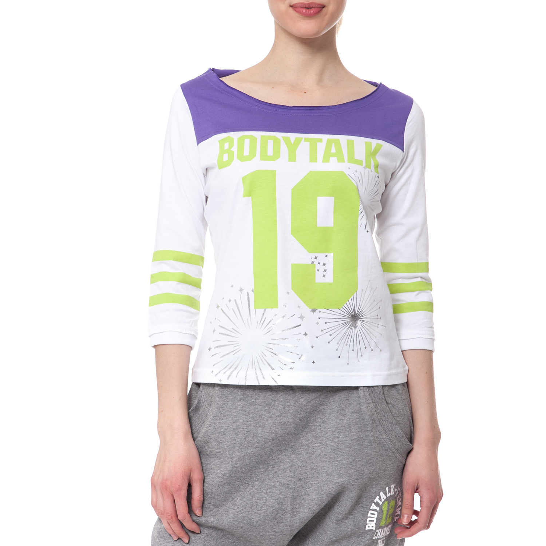 BODYTALK - Γυναικεία μπλούζα BODYTALK λευκή γυναικεία ρούχα αθλητικά φούτερ μακρυμάνικα