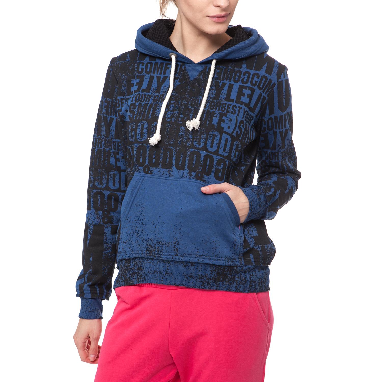 BODYTALK - Γυναικείο φούτερ BODYTALK μπλε γυναικεία ρούχα αθλητικά φούτερ μακρυμάνικα