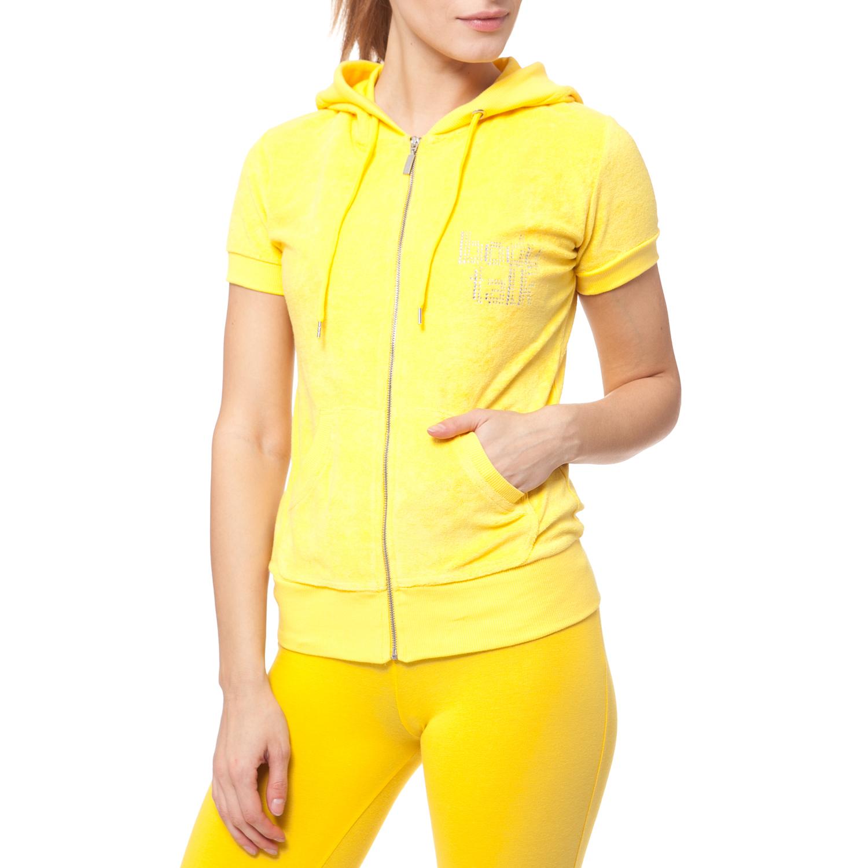 BODYTALK - Γυναικεία ζακέτα BODYTALK κίτρινη γυναικεία ρούχα φούτερ ζακέτες