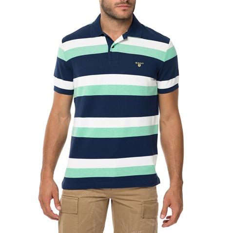 04522feb3405 Ανδρική κοντομάνικη πόλο μπλούζα GANT μπλε-πράσινη (1579016.0-o006) |  Factory Outlet
