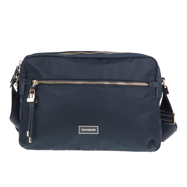 d6ab43a32b SAMSONITE - Γυναικεία τσάντα χιαστί KARISSA SAMSONITE μπλε ...