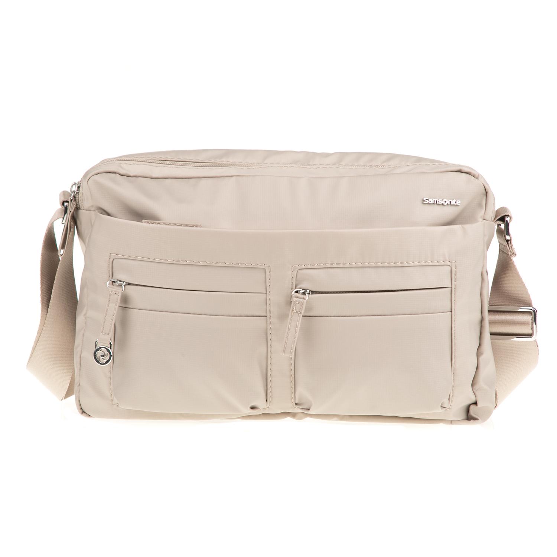 SAMSONITE - Γυναικεία τσάντα χιαστί MOVE 2.0 SQUARED SAMSONITE μπεζ γυναικεία αξεσουάρ τσάντες σακίδια ταξιδίου