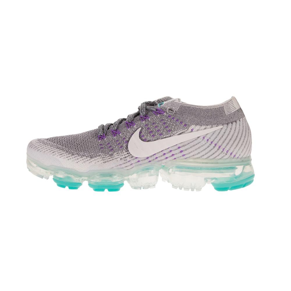 NIKE – Γυναικεία παπούτσια running NIKE AIR VAPORMAX FLYKNIT E γκρι λευκά