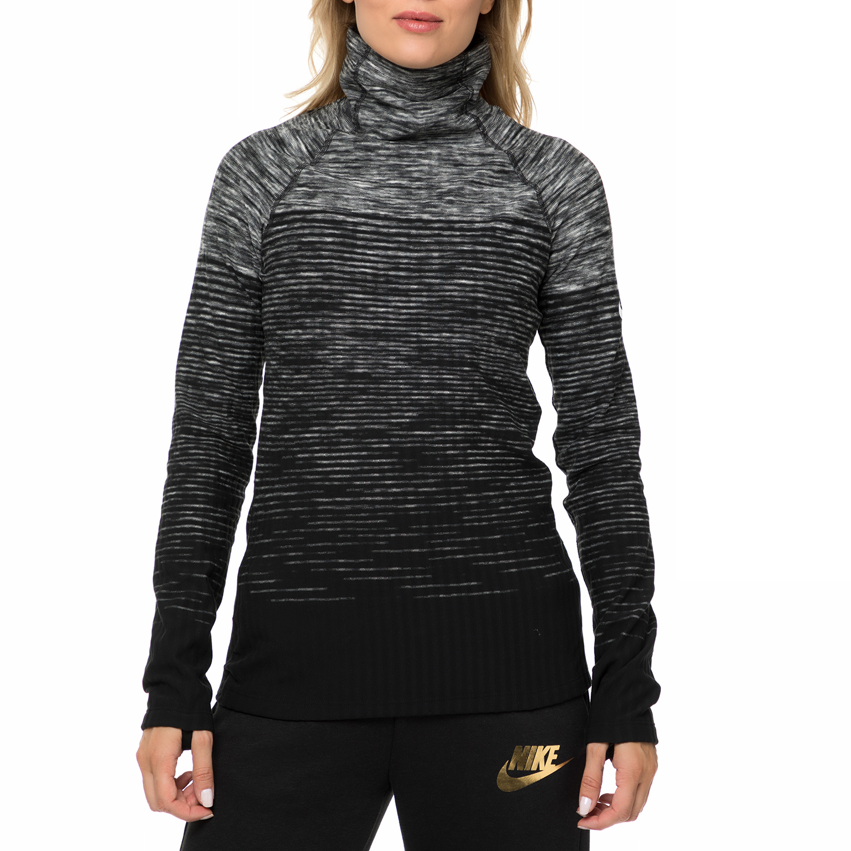 e47ed7ab19 NIKE - Γυναικεία αθλητική μακρυμάνικη μπλούζα NIKE HPRWM TOP NEW ENG NRDC  γκρι