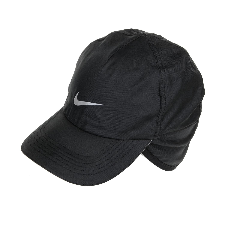 NIKE - Unisex αθλητικό καπέλο NIKE AROBILL CAP EARFLAP μαύρο γυναικεία αξεσουάρ καπέλα αθλητικά