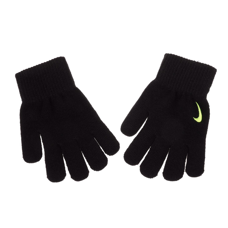 NIKE ACCESSORIES - Unisex παιδικά γάντια NIKE YA SWOOSH KNIT μαύρα παιδικά boys αξεσουάρ κασκόλ γάντια