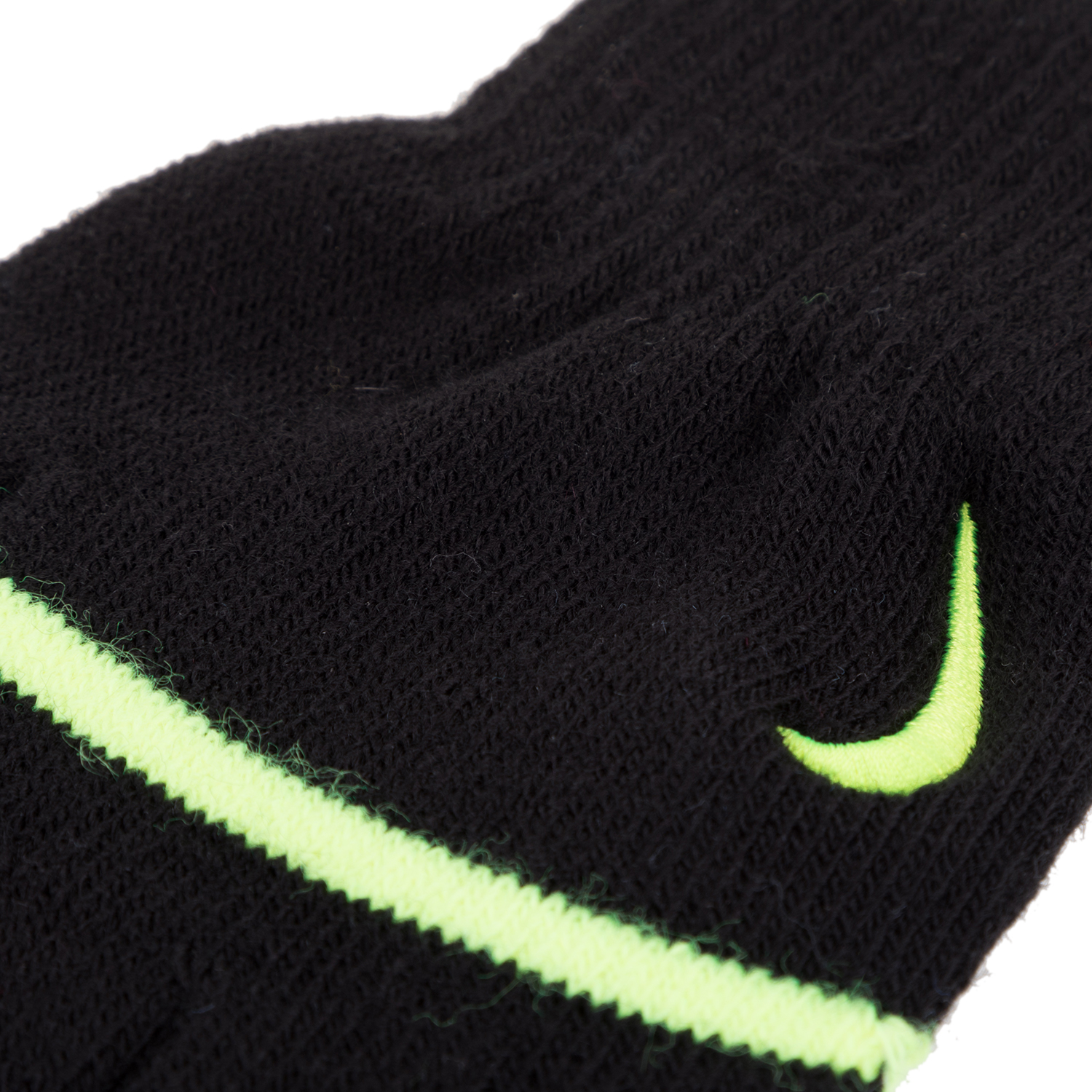 f19c5ebdc40d NIKE ACCESSORIES - Unisex παιδικά γάντια NIKE YA STRIPE KNITTED TECH μαύρα