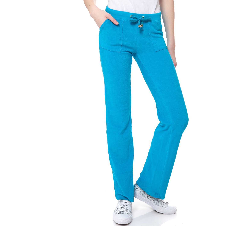 MYMOO - Γυναικείο παντελόνι MYMOO τυρκουάζ γυναικεία ρούχα παντελόνια φόρμες