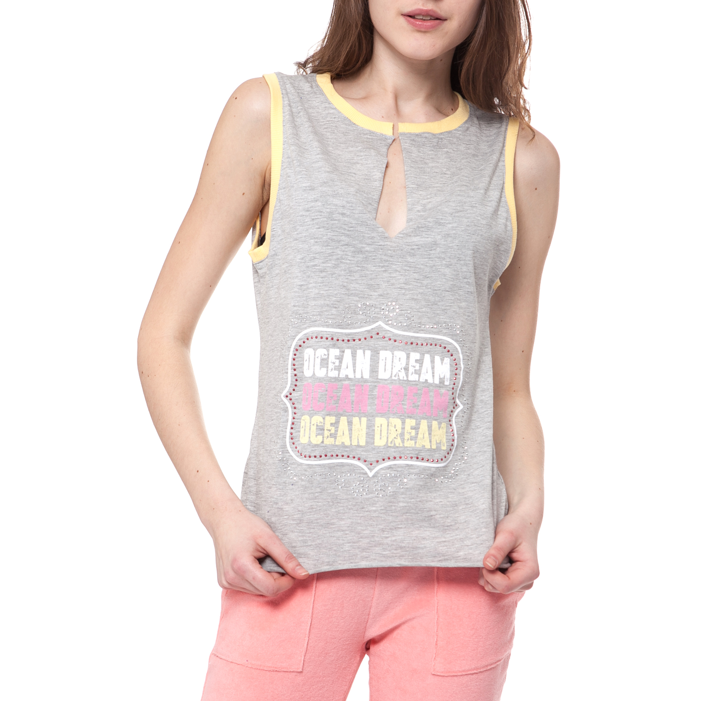 MYMOO - Γυναικεία μπλούζα MYMOO γκρι γυναικεία ρούχα μπλούζες αμάνικες