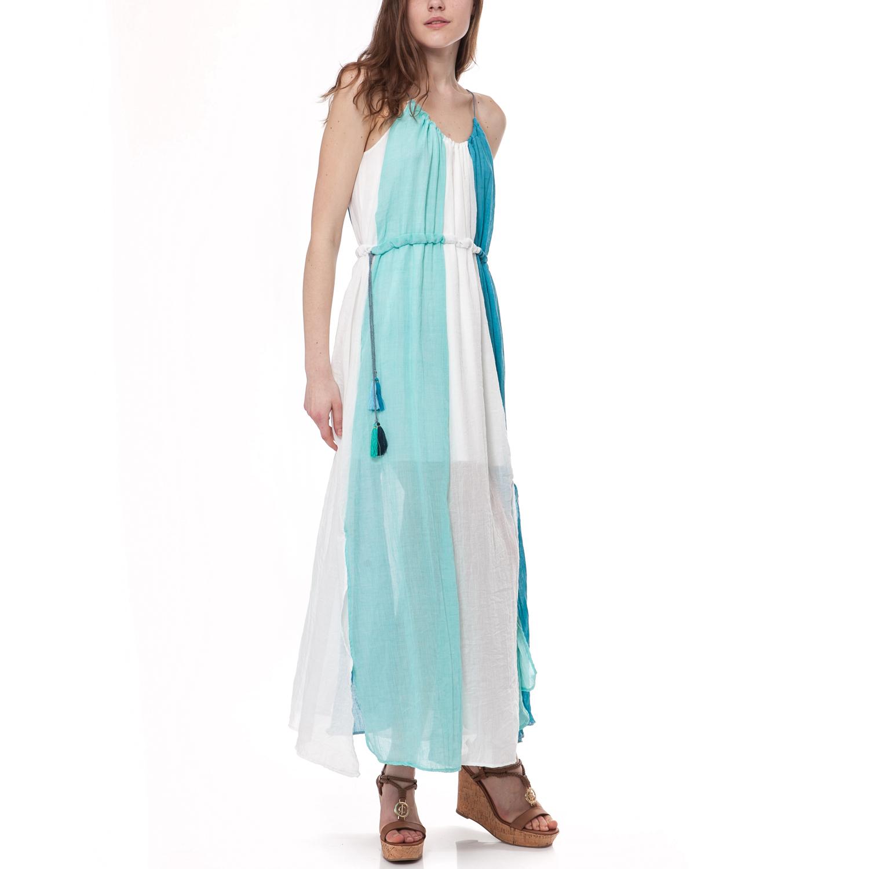 3ba12cc22ebe MYMOO - Γυναικείο φόρεμα MYMOO λευκό-μπλε