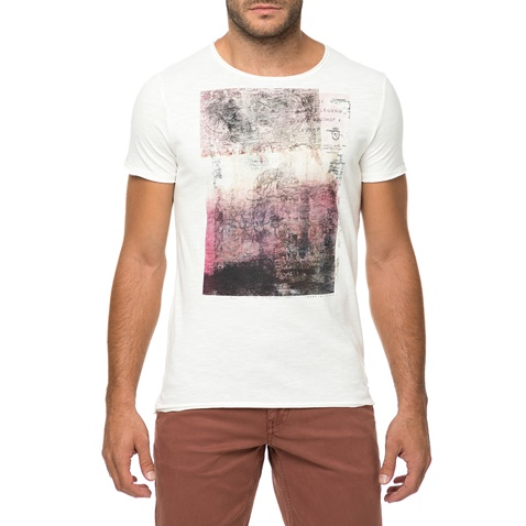 4db9680a6ce2 Ανδρική κοντομάνικη μπλούζα με στάμπα GARCIA JEANS λευκή (1582822.0-0090)