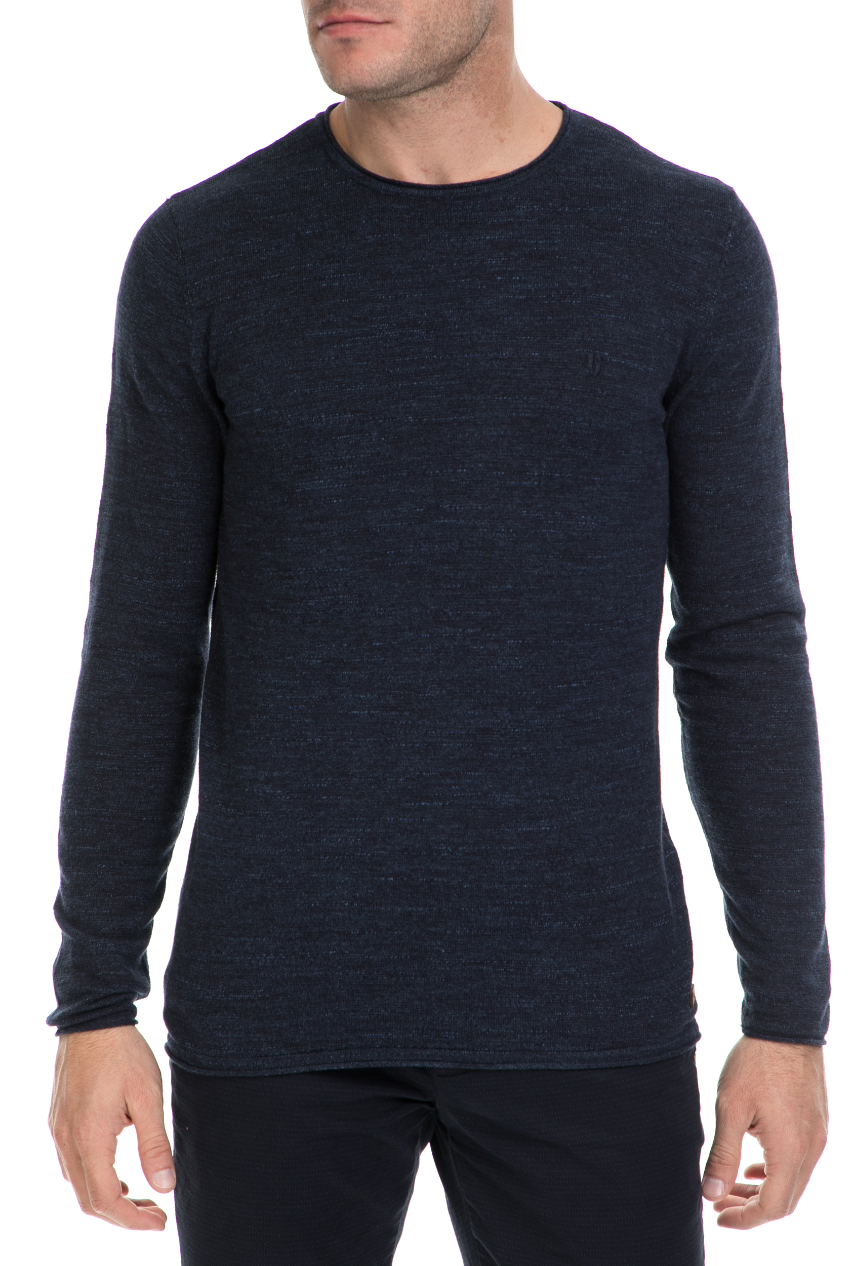 GARCIA JEANS - Ανδρικό πουλόβερ Guido GARCIA JEANS μπλε ανδρικά ρούχα πλεκτά ζακέτες μπλούζες