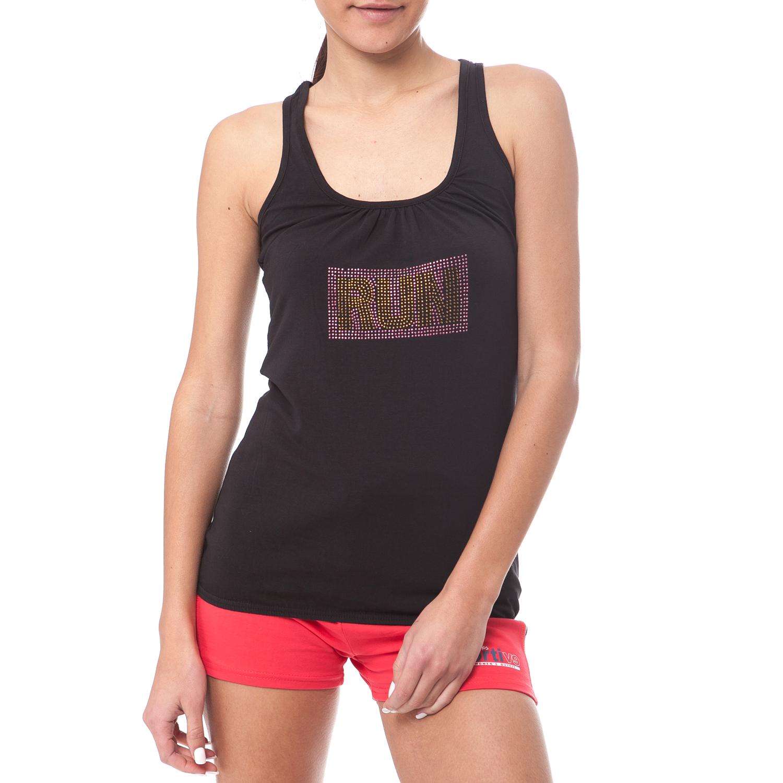 GAMBLING - Γυναικεία μπλούζα Gambling μαύρη γυναικεία ρούχα μπλούζες αμάνικες