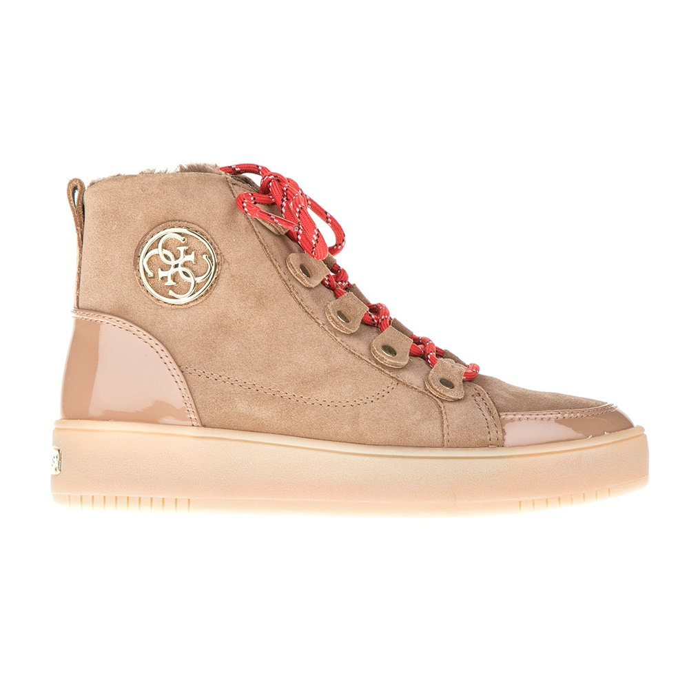 GUESS – Γυναικεία sneakers GUESS DINA καφέ