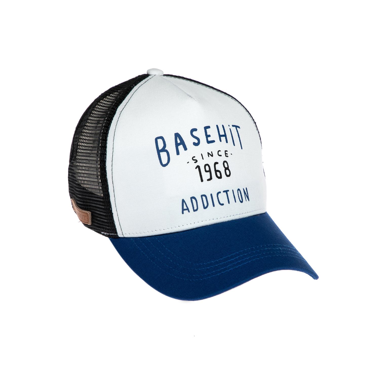 BASEHIT - Καπέλο τζόκεϋ Basehit μπλε-λευκό γυναικεία αξεσουάρ καπέλα αθλητικά