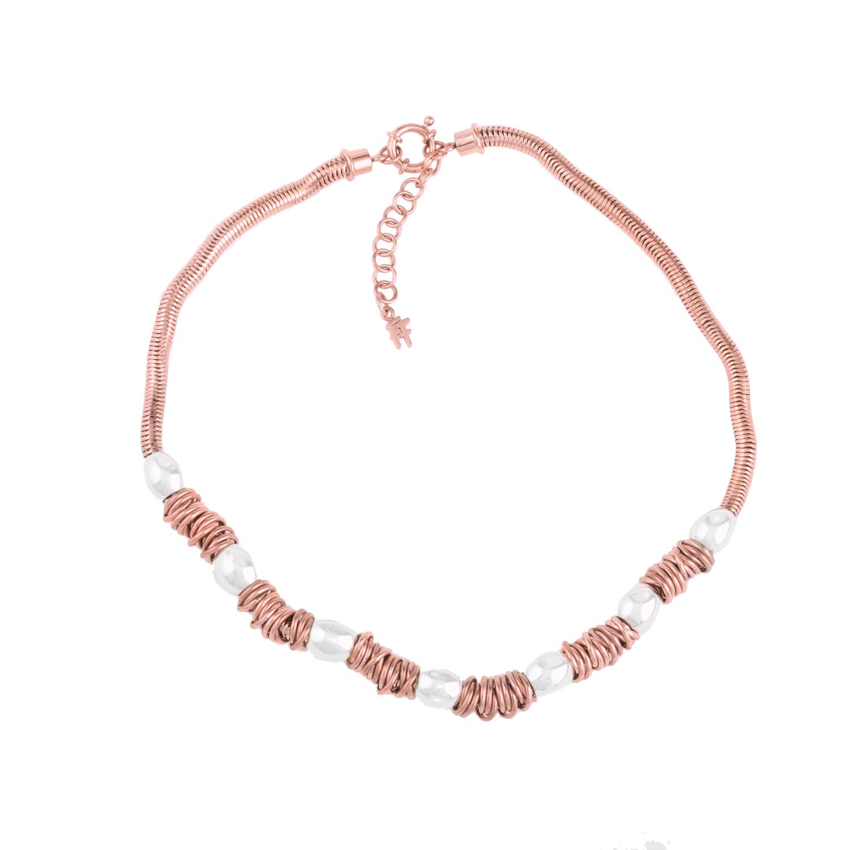 FOLLI FOLLIE - Γυναικείο κολιέ FOLLI FOLLIE AEGEAN BREEZE ροζ-χρυσό ... 6d869b7d8ed