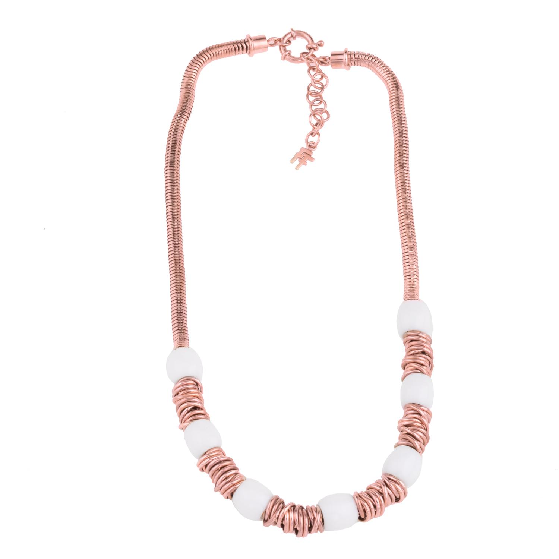 FOLLI FOLLIE – Γυναικείο κολιέ FOLLI FOLLIE AEGEAN BREEZE ροζ-χρυσό 2f98cdb6f6b